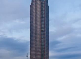Trade Fair Tower: Pencil shaped European Skyscraper